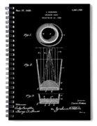 Liquershot Glass Patent 1925 Black Spiral Notebook