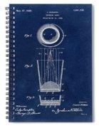 Liquershot Glass Patent 1925 Blue Spiral Notebook