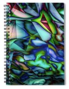 Liquid Geometric Abstract Spiral Notebook