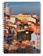 Lisbon Cityscape In Portugal At Sunset Spiral Notebook