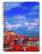 Lisbon Panorama Spiral Notebook