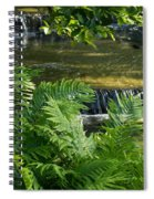 Listen To The Babbling Brook - Green Summer Zen Spiral Notebook