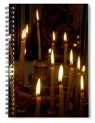 lit Candles in church  Spiral Notebook