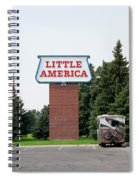 Little America Hotel Signage Vertical Spiral Notebook