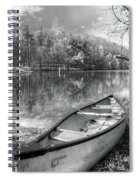 Little Bit Of Heaven Black And White Panorama Spiral Notebook