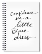 Little Black Dress - Art By Linda Woods Spiral Notebook