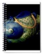 Little Blue And White Fish Tea Pot Still Life Spiral Notebook