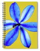 Little Blue Flower On A Yellow Background Spiral Notebook