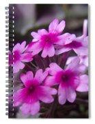 Little Blue Flowers  Spiral Notebook