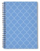 Little Boy Blue Quatrefoil Spiral Notebook