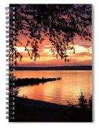 Little Breakwall Sunset Spiral Notebook