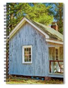 Little Cabin In The Country Pine Barrens Of New Jersey Spiral Notebook