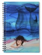 Little Girl Painter II Spiral Notebook