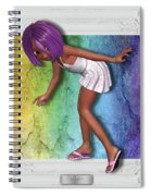 Little Girl Sneaks Out Of Frame Spiral Notebook