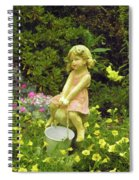 Little Girl With Pail Spiral Notebook
