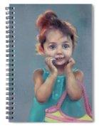Little Girl With Purse Spiral Notebook