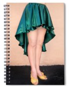 Ameynra Fashion Satin High Low Skirt, Dark-green Spiral Notebook