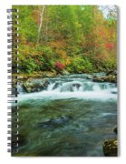 Little Pigeon River Flows In Autumn In The Smoky Mountains Spiral Notebook