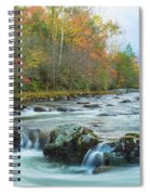 Little Pigeon River Great Smoky Mountains National Park In Fall Spiral Notebook