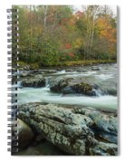 Little Pigeon River In Autumn In Smoky Mountains In Autumn Spiral Notebook