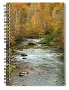 Little Pigeon River In Fall Smoky Mountains National Park Spiral Notebook