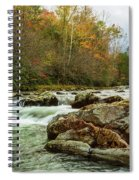Little Pigeon River In The Greenbrier Section Of Smoky Mountains Spiral Notebook