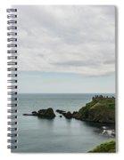 Little Red Sailboat Approaching Dunnottar Castle Scotland Spiral Notebook