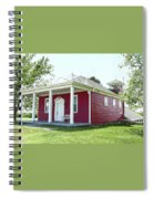 Little Red Schoolhouse, Council Grove Spiral Notebook