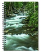 Little River Tremont Area Of Smoky Mountains National Park Spiral Notebook