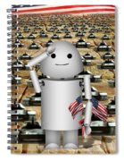 Little Robo-x9 Says Tanks Alot Spiral Notebook