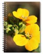 Little Yellow Flowers Spiral Notebook