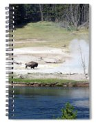 Live Dream Own Yellowstone Park Bison Text Spiral Notebook