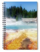 Live Dream Own Yellowstone Park Black Pool Text Spiral Notebook