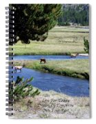 Live Dream Own Yellowstone Park Elk Herd Text Spiral Notebook