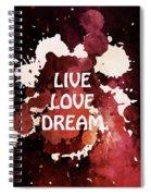 Live Love Dream Urban Grunge Passion Spiral Notebook