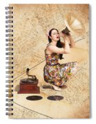 Live Music Pinup Singer Performing On Gig Guide Spiral Notebook