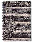 Live Your Life Fully Spiral Notebook
