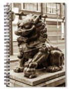 Liverpool Chinatown - Chinese Lion A Spiral Notebook
