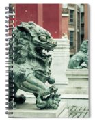 Liverpool Chinatown - Chinese Lion D Spiral Notebook