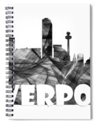 Liverpool England Skyline Spiral Notebook
