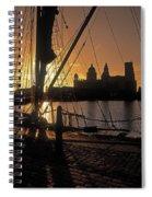 Liverpool, England View From Albert Dock Spiral Notebook