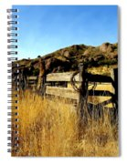 Livery Fence At Dripping Springs Spiral Notebook