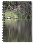 Living On The Pond Spiral Notebook