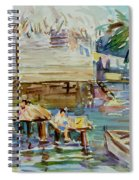Living On The Water Spiral Notebook