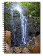 Living Waters - Wailua Falls Maui Spiral Notebook
