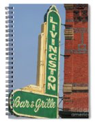 Livingston Bar And Grill Old Neon Sign Montana Spiral Notebook