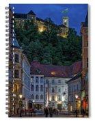 Ljubljana Night Scene - Slovenia Spiral Notebook