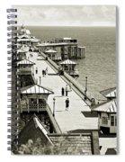 Llandudno Pier North Wales Uk Spiral Notebook