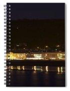 Llandudno Promenade At Night. Spiral Notebook
