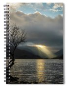 Llyn Padarn Sunrays Spiral Notebook
